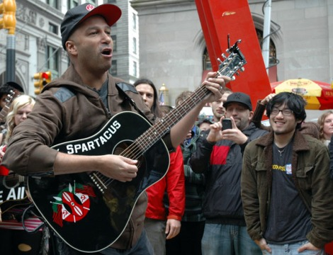 Tom Morello performing live at Occupy Wall Street
